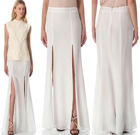 Ellery Two Split Skirt in Ivory