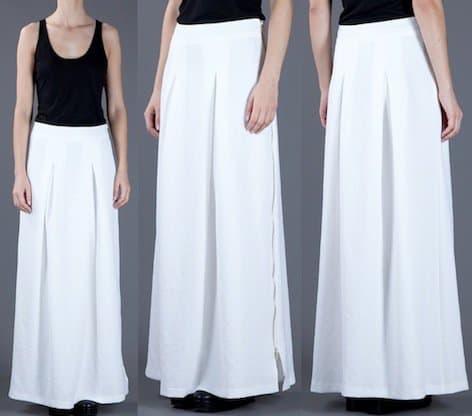 Filles A Papa Alena Skirt in White