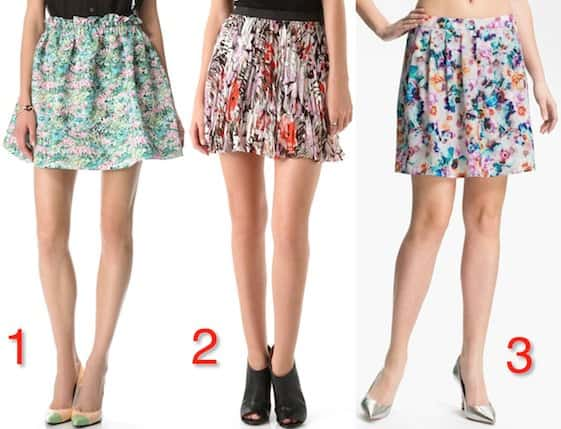 How to Wear: 5 Ways To Balance Out Floral Mini Skirts
