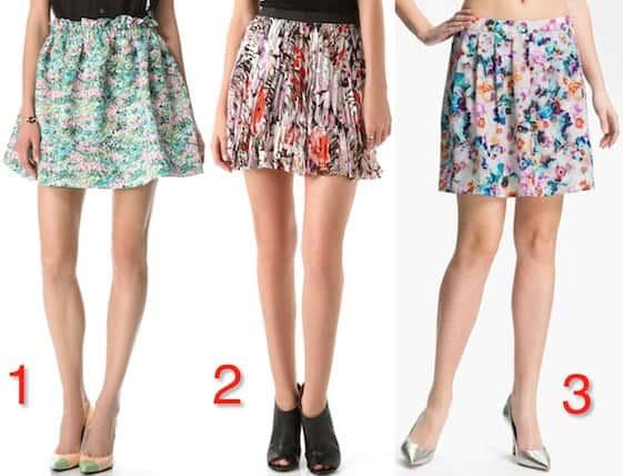 Floral Mini Skirts