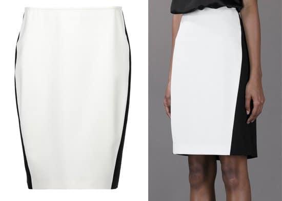Cedric Charlier Bi-color Pencil Skirt