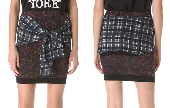 3 1 Phillip Lim Spotted Pony Tie Waist Skirt