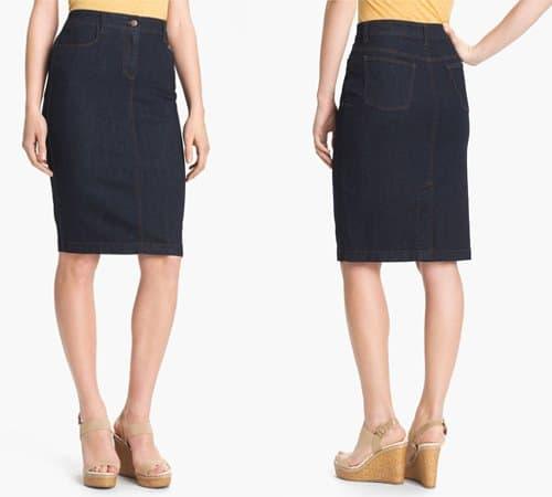 Eileen Fisher Stretch Denim Skirt