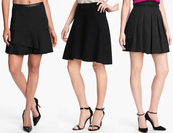 Affordable black skirts