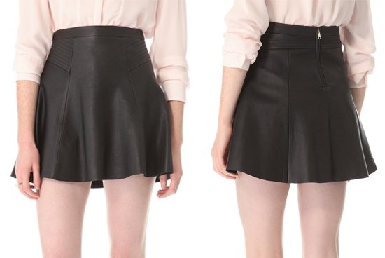 ALC Reese Leather Skirt1