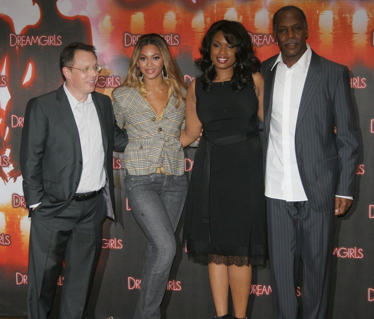 Director Bill Condon, Beyonce Knowles, Jennifer Hudson, and Danny Glover promoting Dreamgirls in Berlin