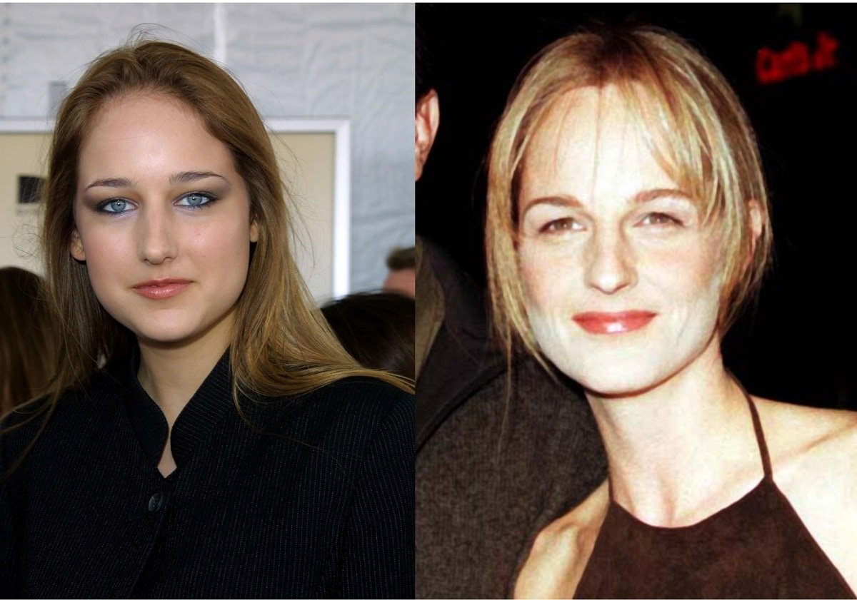 Actresses Leelee Sobieski and Helen Hunt look alike but are not related