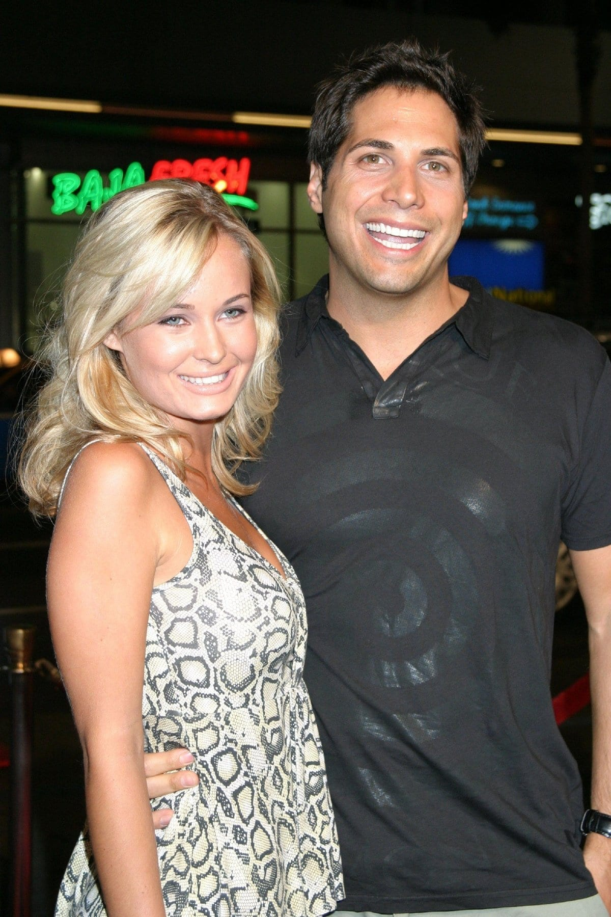 Joe Francis dated blonde actress Amber Hay from 2006 - 2008