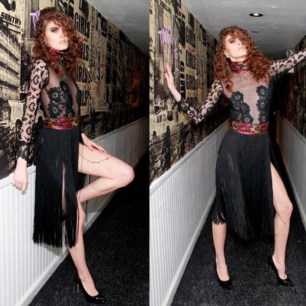 Fringe skirt from Anna Francesca's F/W New York Fashion Week 2013 lookbook