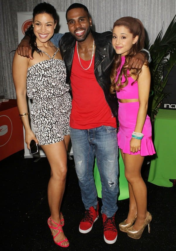 Jordin Sparks, Jason Darulo, and Ariana Grande at the 2023 Wang Tango presented by 102.7 KIIS FM in Los Angeles on May 11, 2013
