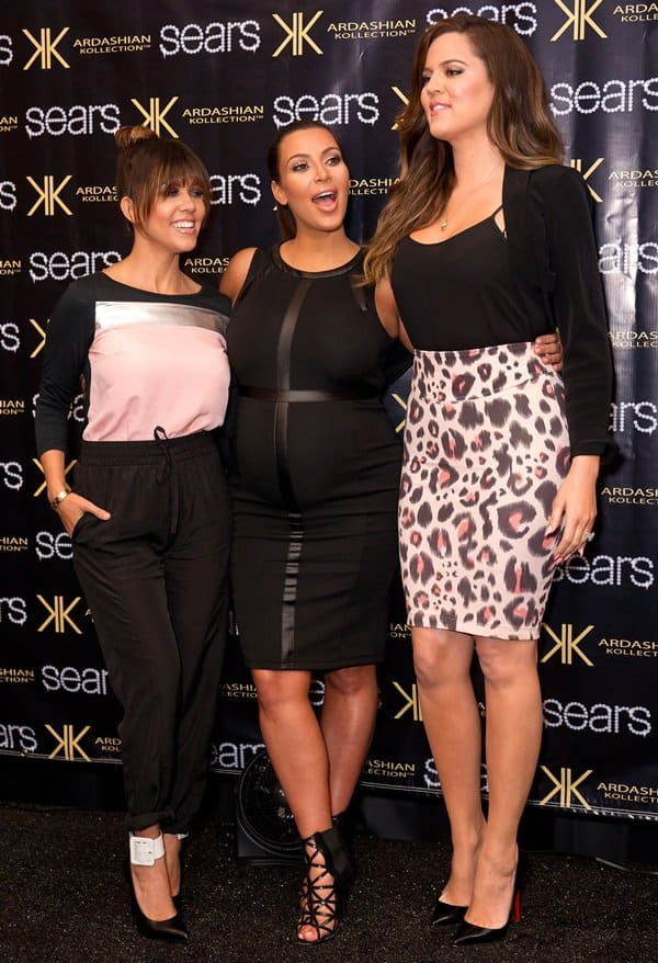 The Kardashian sisters attend an in-store appearance at Sears to launch their 'Kardashian Kollection Spring 2013' clothing line