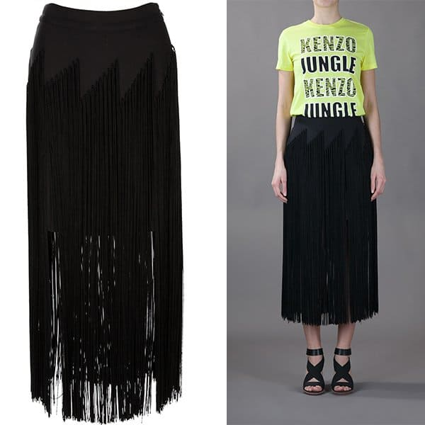 Kenzo Fringed Skirt