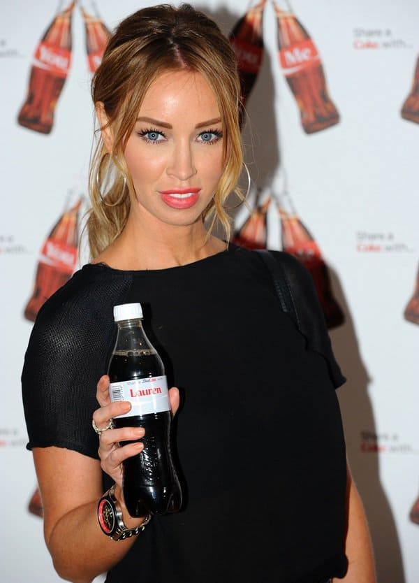 Lauren Pope at the Coca-Cola 'Share a Coke' Campaign Launch in London on May 9, 2013
