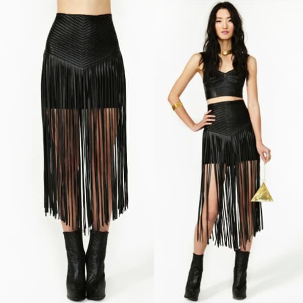 Total Recall Fringe Skirt