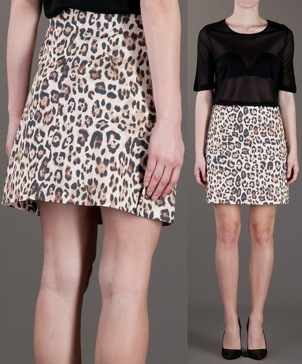 Rika Leopard Print Mini Skirt