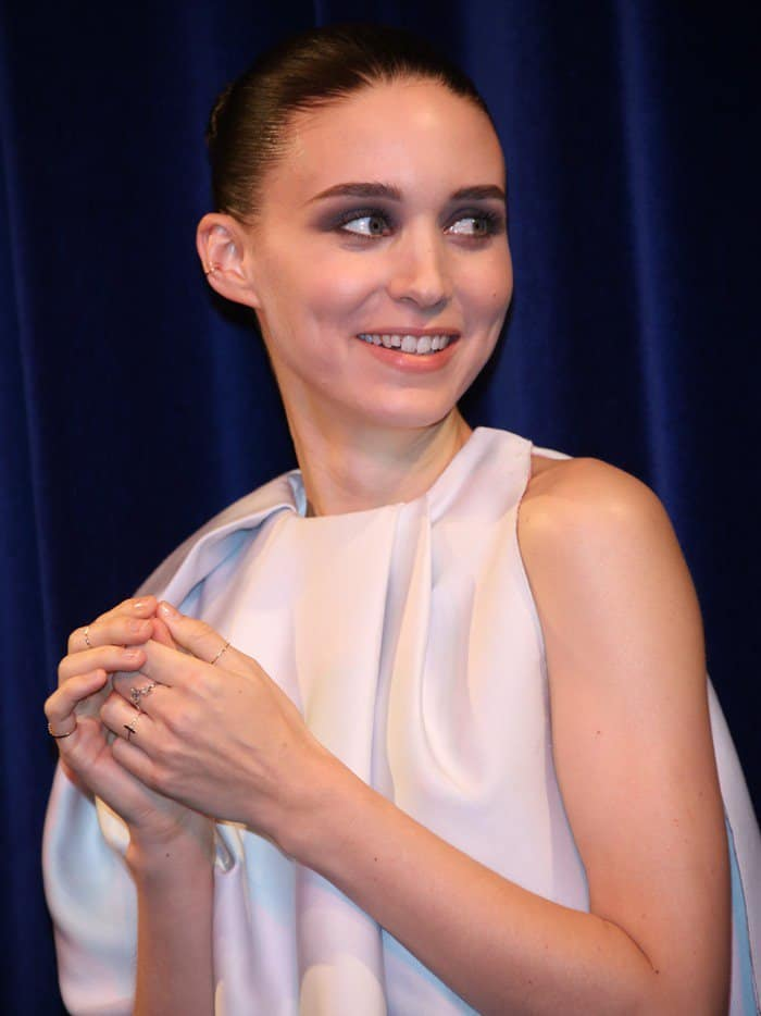 Rooney Mara in Christian Dior at the 66th Cannes Film Festival for the premiere of 'Ain't Them Bodies Saints' at Cannes on May 18, 2013