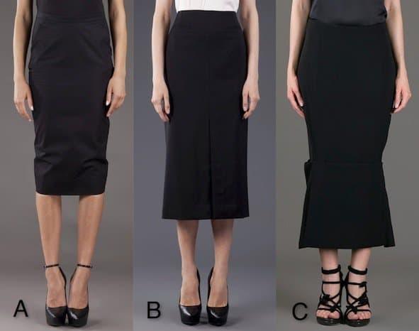 Black Designer Skirts