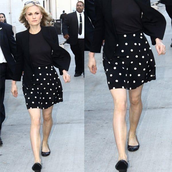 Anna Paquin Marc Jacobs Hot Dot Skirt