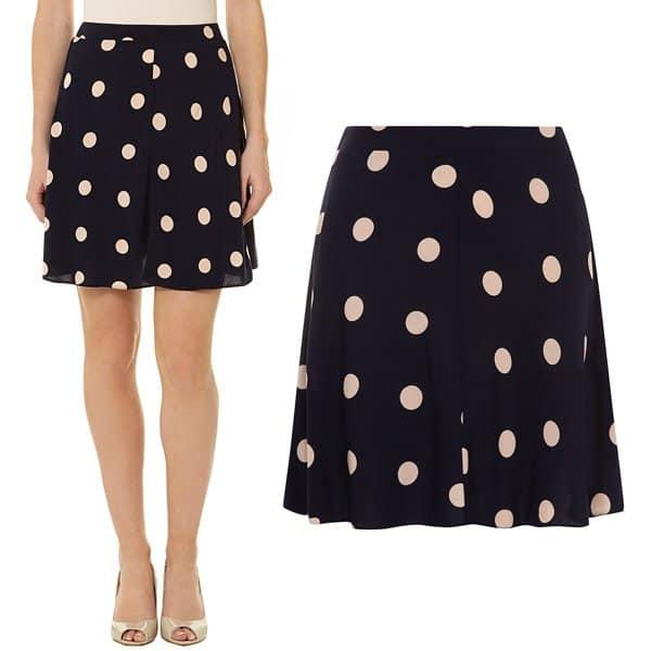 Dorothy Perkins Ink Blush Spot Skater Skirt