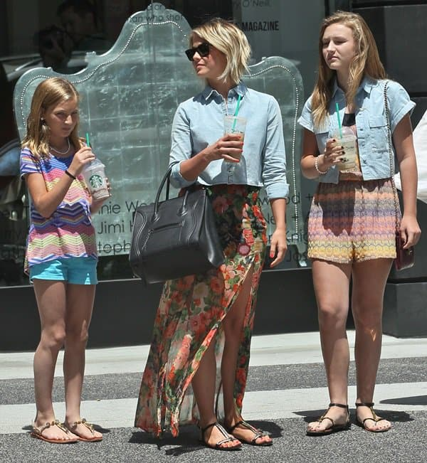 Julianne Hough taking her nieces to shop in Beverly Hills on June 19, 2013