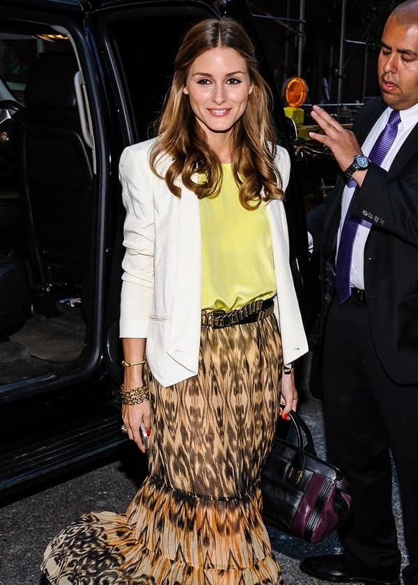 Olivia Palermo at the See by Chloe spring 2014 collection presentation at Industria Superstudio in New York City on June 12, 2013