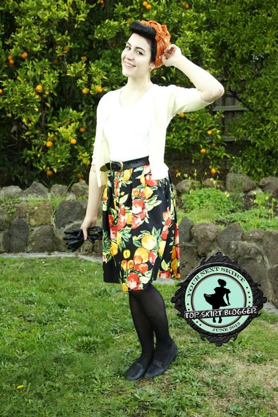 Taygan shows how to look fabulous in a fruit print skirt