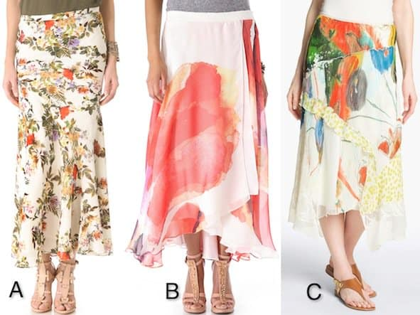 Floral Maxi Skirts