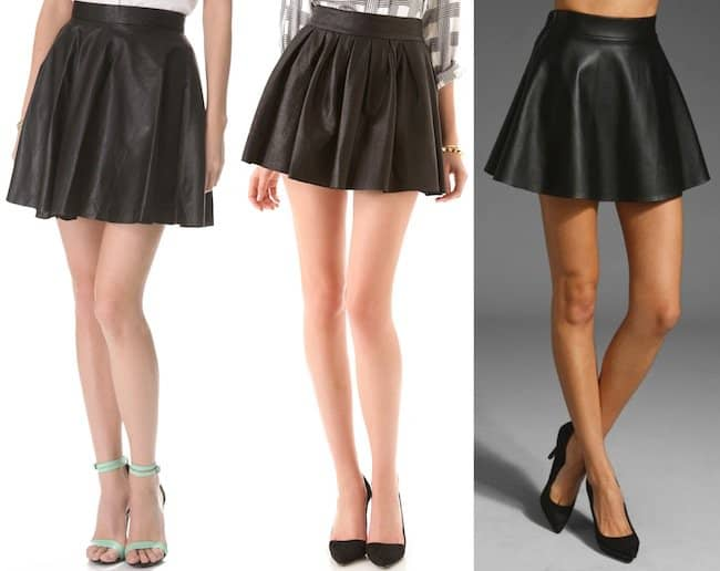 Hot leather skirts