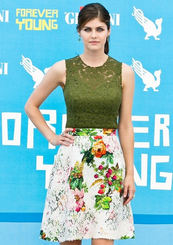 Alexandra Daddario and Logan Lerman attend at photocall for their new film 'Percy Jackson: Sea of Monsters', at The Giffoni Festival Experience