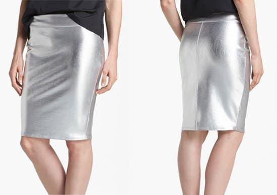 Leith Foiled Pencil Skirt