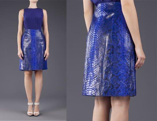 Michael Kors Glazed Python Skirt