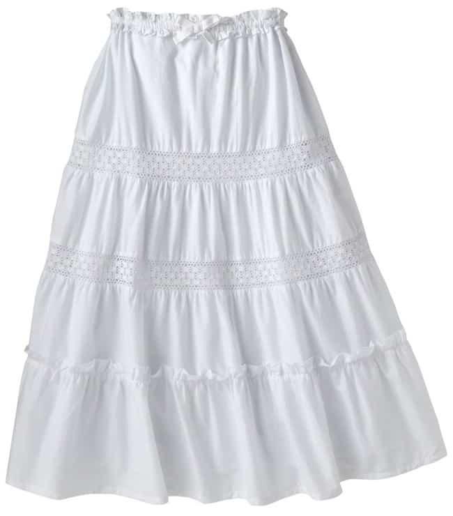 Chaps Girl's Maxi Skirt in White