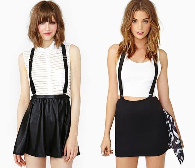 nasty-gal-suspender-skirt