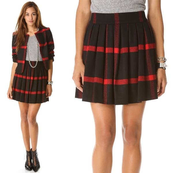 Alice + Olivia Box Pleat Skirt