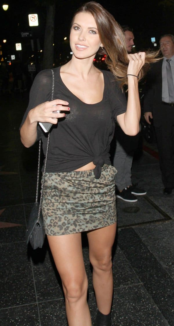 Audrina Patridge on a night out at Hemingway's Lounge in Hollywood on August 19, 2013