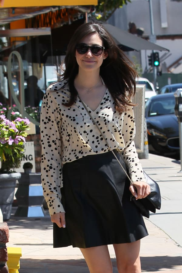 Emmy Rossum leaving a dry bar in West Hollywood on August 23, 2013