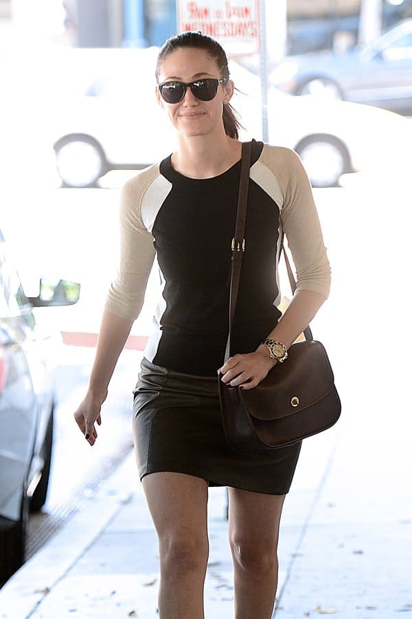 Emmy Rossum outside Nine Zero One salon in West Hollywood on August 29, 2013