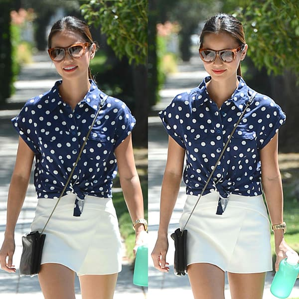 Jamie Chung seen leaving an office in West Hollywood on August 16, 2013