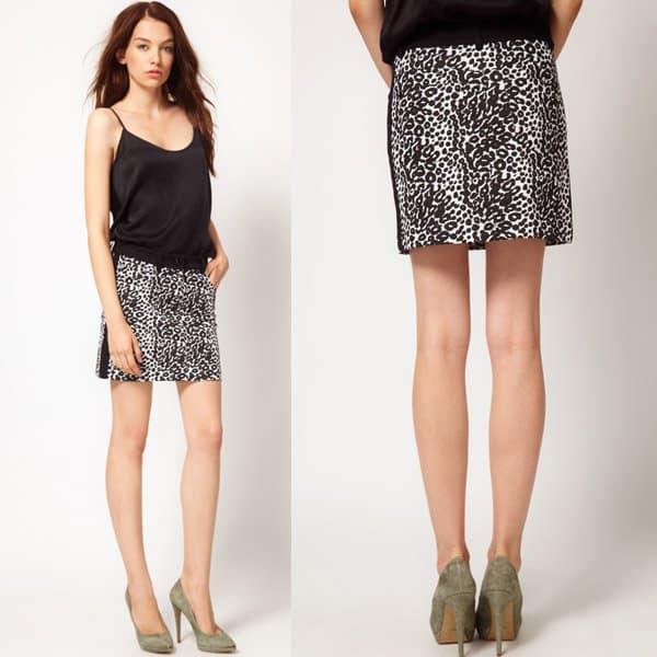 Kookai Leopard Mini Skirt