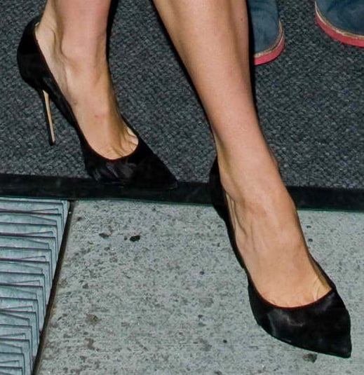 Shailene Woodley's feet in shoes from Casadei