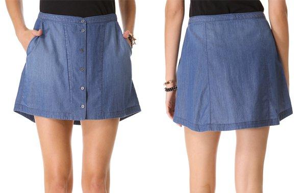 Theysken's Theory Suna Button Skirt