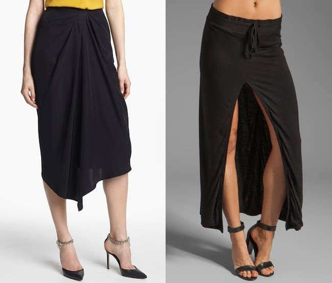 Black midi skirts
