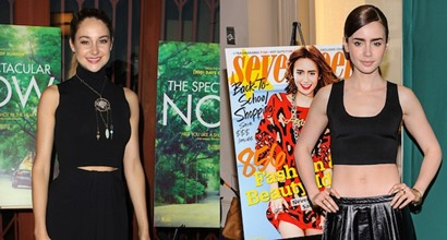 Who Wears All Black Best Lily Collins Or Shailene Woodley