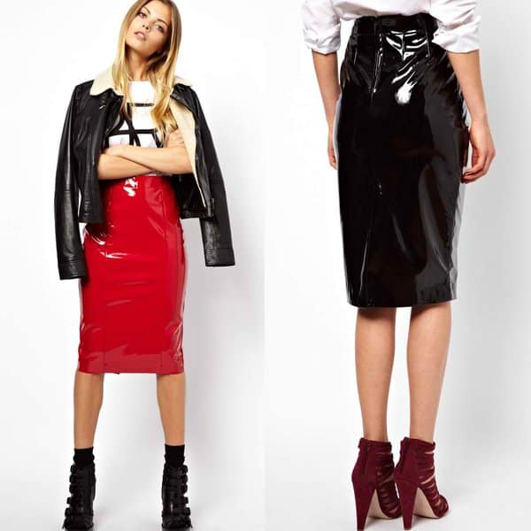 ASOS Pencil Skirt in Patent PU