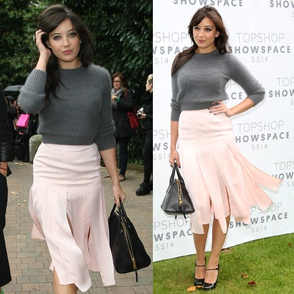Daisy Lowe at Topshop's launch of their new clothing range called Topshop Unique at the London Fashion Week Spring/Summer 2014 on September 16, 2013