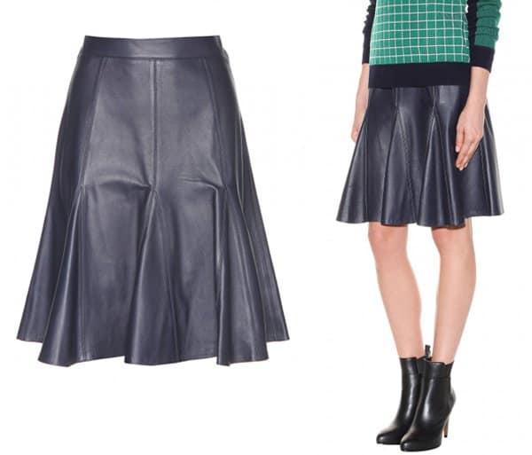 Erdem Michaela Leather Skirt