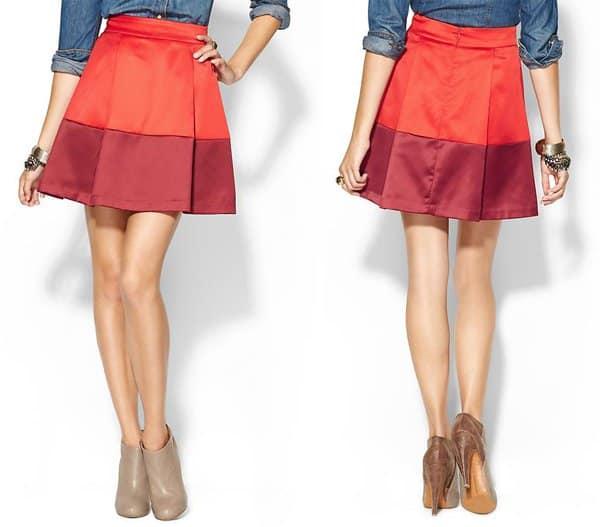 I Madeline Color Blocked Skirt