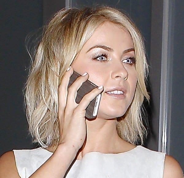 Julianne Hough was seen leaving Hakkasan restaurant in Beverly Hills on September 20, 2013