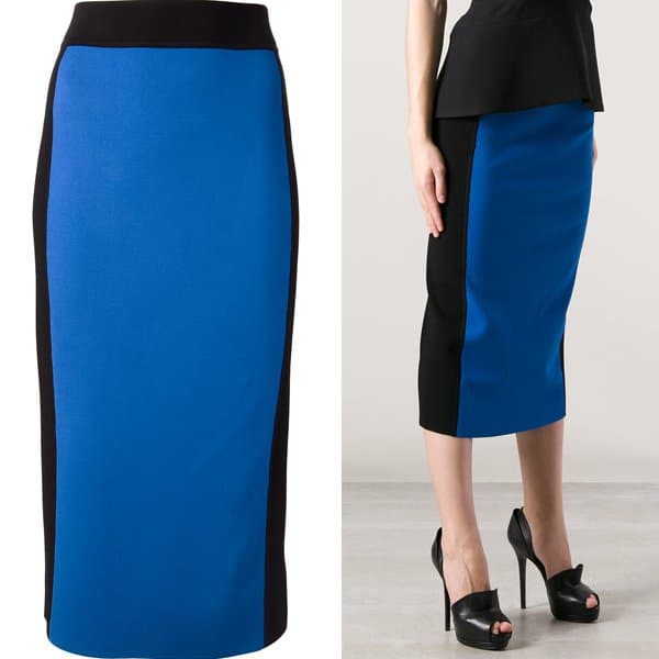 Michael Kors Two Tone Pencil Skirt