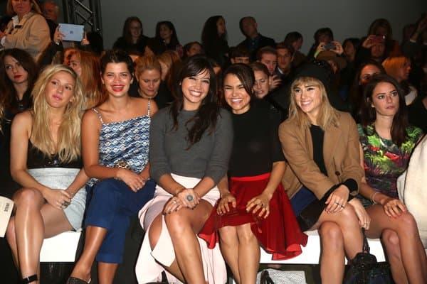 Ellie Goulding, Pixie Geldof, Daisy Lowe, Samantha Barks, Suki Waterhouse, and Kaya Scodelario